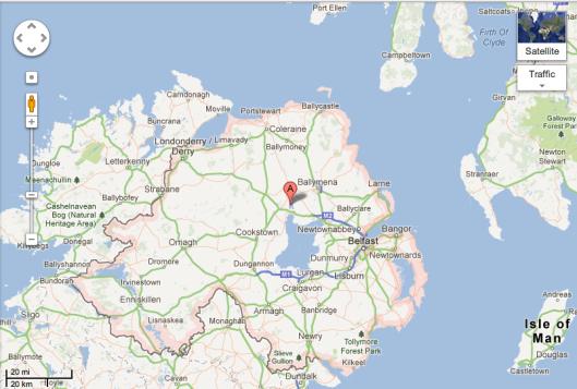 Northern Ireland, yesterday.